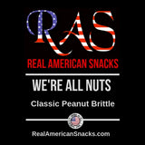 RAS We're All Nuts Peanut Brittle 8oz.