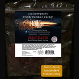 red stiletto beef brisket jerky hollowpoint one pound