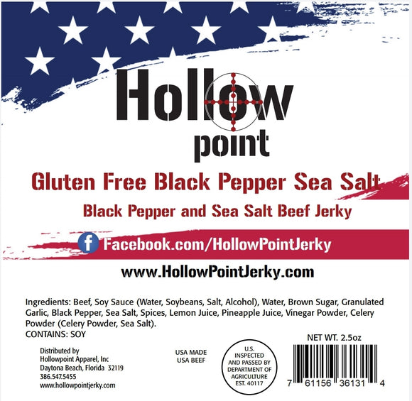 Gluten Free Black Pepper Sea Salt