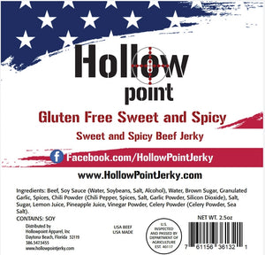 Gluten-free Sweet and Spicy Beef Jerky