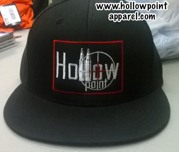 Port Authority Black Flat Bill Hat