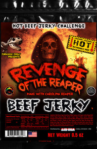 Revenge of the Reaper Jurassic Jerky's HOTTEST Beef Jerky Hot Food Challenge!