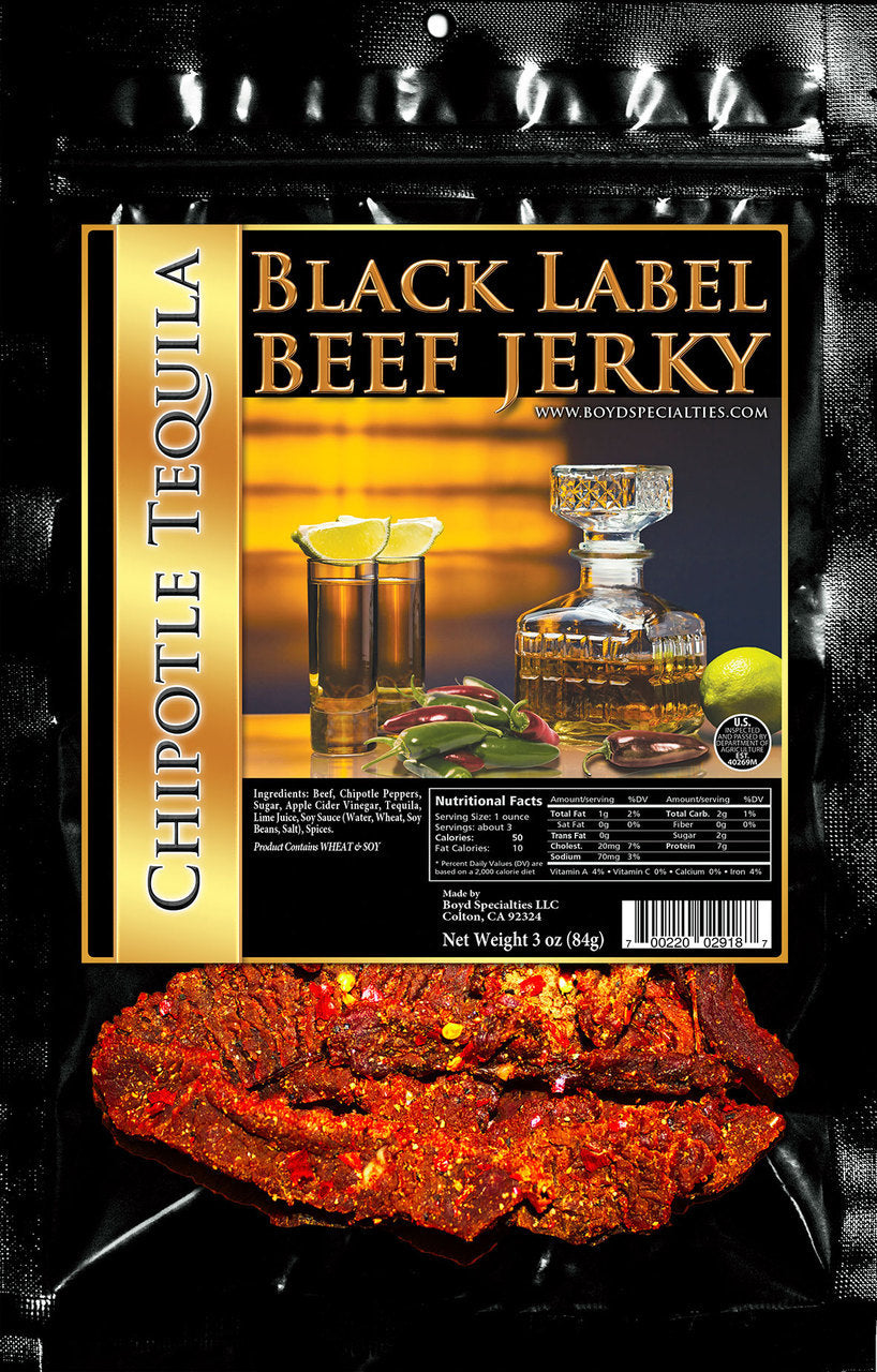 x BLACK LABEL JERKY - CHIPOTLE TEQUILA Black Label Jerky