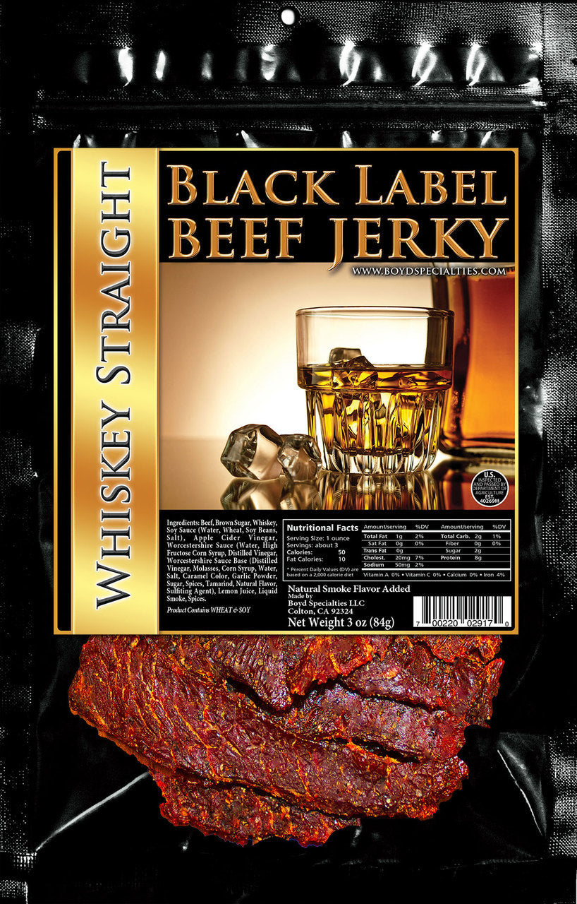 x BLACK LABEL JERKY - WHISKEY STRAIGHT