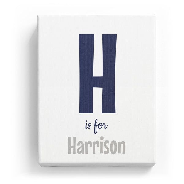 H is for Harrison - Cartoony