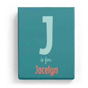 J is for Jocelyn - Cartoony