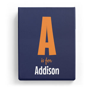 A is for Addison - Cartoony