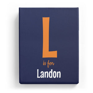 L is for Landon - Cartoony