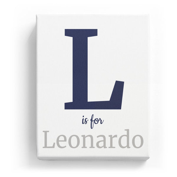 L is for Leonardo - Classic