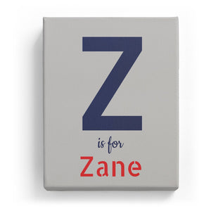 Z is for Zane - Stylistic