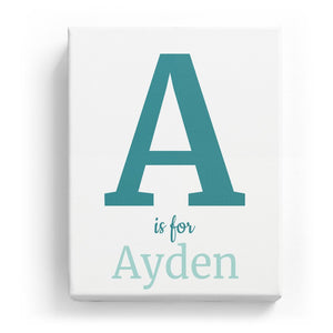 A is for Ayden - Classic