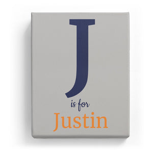 J is for Justin - Classic