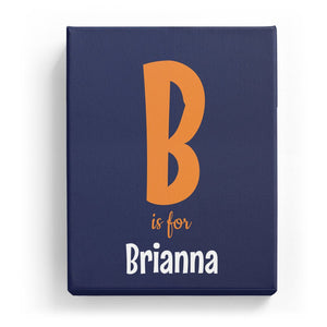 B is for Brianna - Cartoony