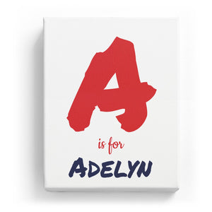 A is for Adelyn - Artistic