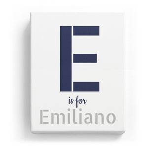 E is for Emiliano - Stylistic