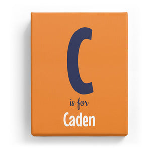 C is for Caden - Cartoony