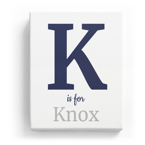 K is for Knox - Classic