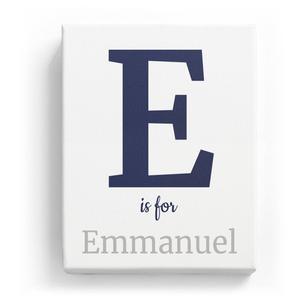 E is for Emmanuel - Classic