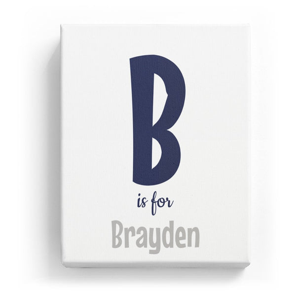 B is for Brayden - Cartoony