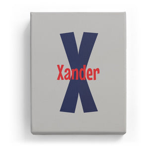 Xander Overlaid on X - Cartoony