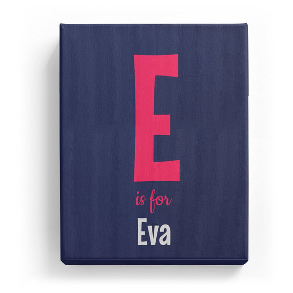 E is for Eva - Cartoony