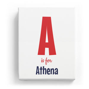 A is for Athena - Cartoony