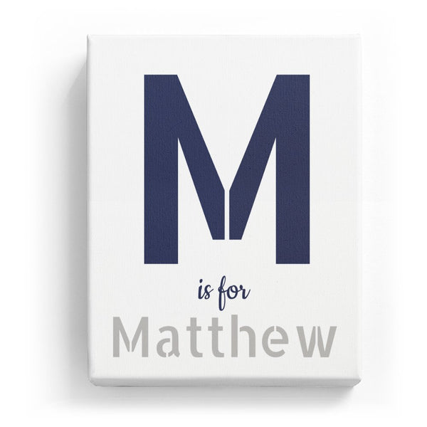 M is for Matthew - Stylistic
