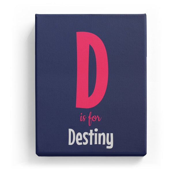 D is for Destiny - Cartoony
