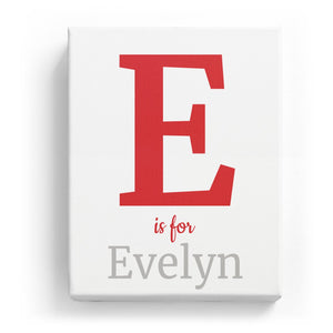 E is for Evelyn - Classic
