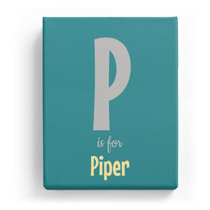 P is for Piper - Cartoony