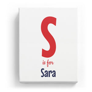 S is for Sara - Cartoony