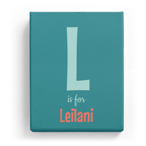 L is for Leilani - Cartoony