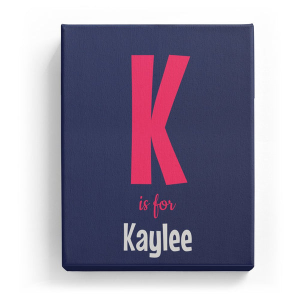 K is for Kaylee - Cartoony