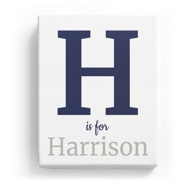 H is for Harrison - Classic