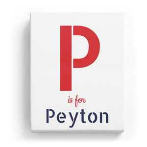 P is for Peyton - Stylistic
