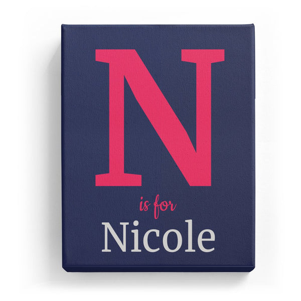 N is for Nicole - Classic