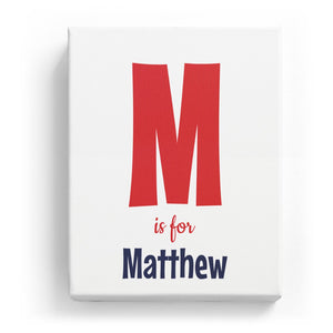 M is for Matthew - Cartoony