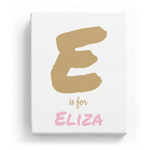 E is for Eliza - Artistic