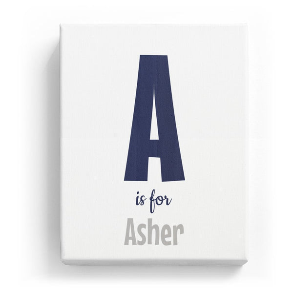 A is for Asher - Cartoony