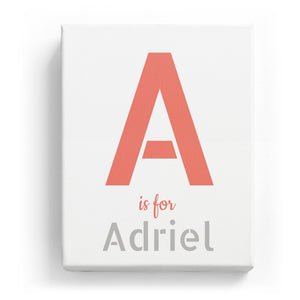 A is for Adriel - Stylistic