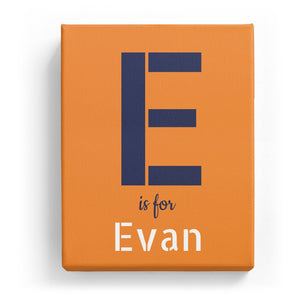 E is for Evan - Stylistic