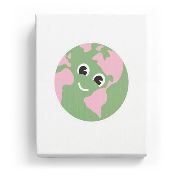 Earth with a Face - No Background (Mirror Image)
