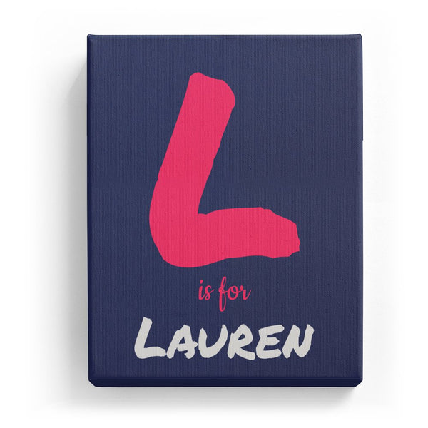 L is for Lauren - Artistic