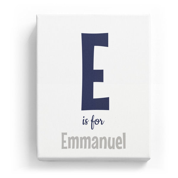 E is for Emmanuel - Cartoony