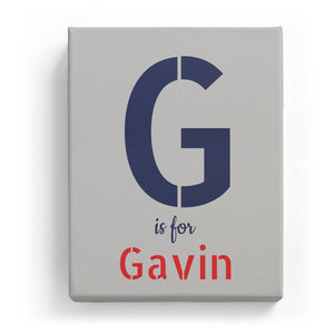 G is for Gavin - Stylistic