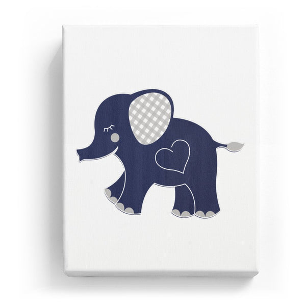Elephant with a Heart - No Background (Mirror Image)