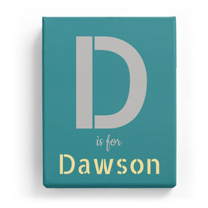 D is for Dawson - Stylistic