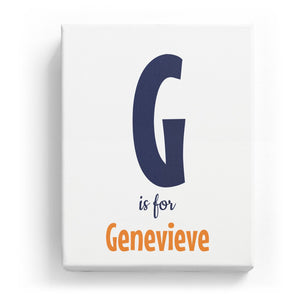 G is for Genevieve - Cartoony