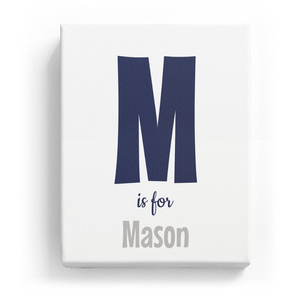 M is for Mason - Cartoony