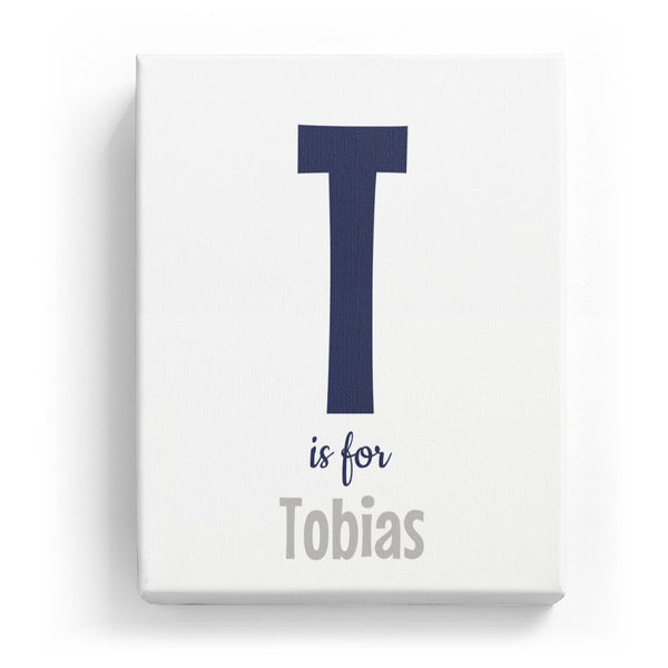 T is for Tobias - Cartoony